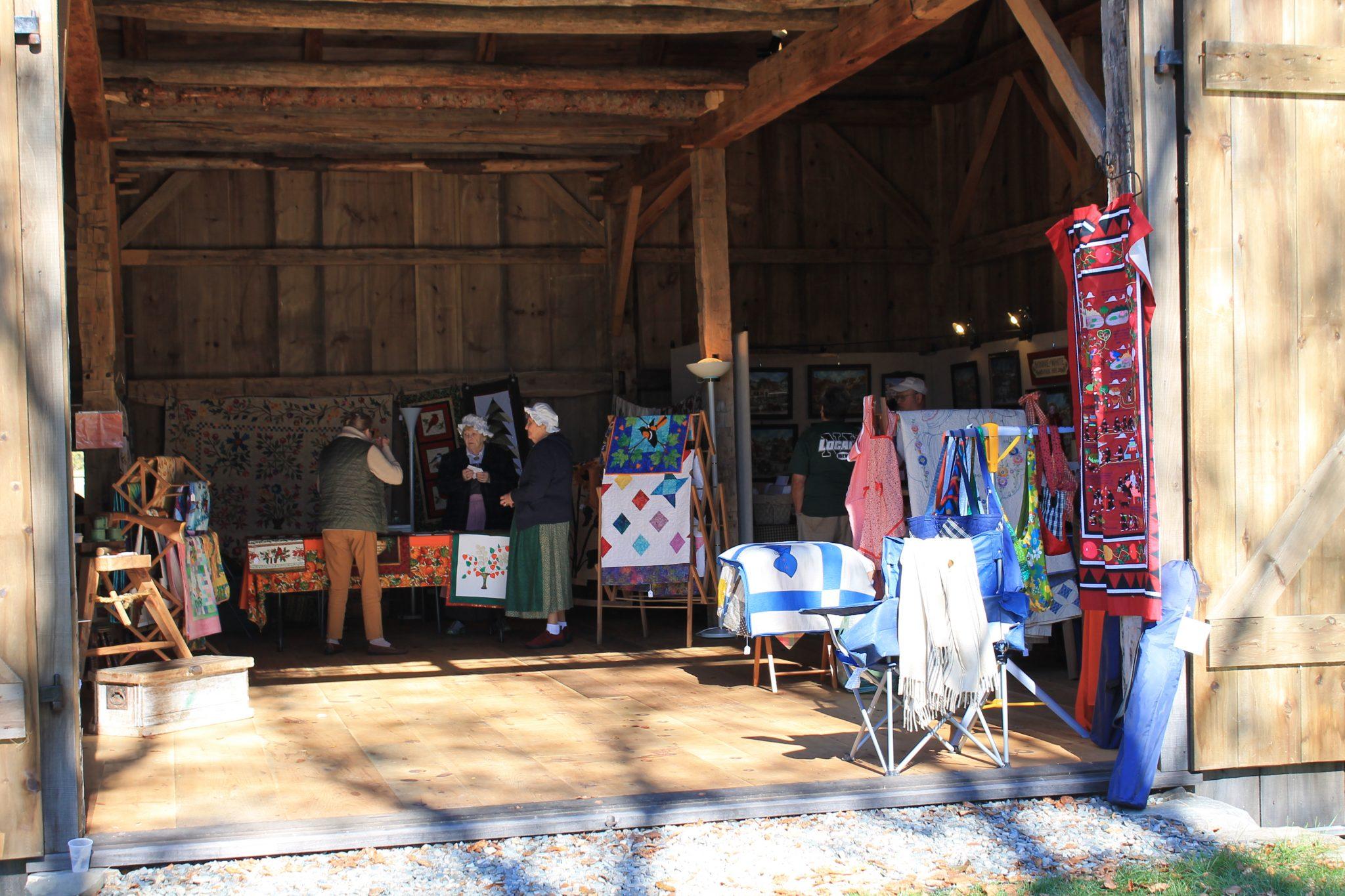 Vendors in the Barn